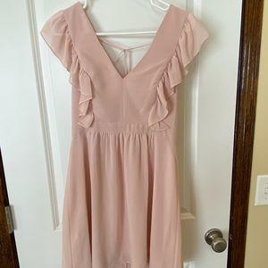 BCBG pale pink mini dress. Size 6.